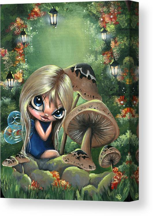Whimsical Canvas Print featuring the painting Mystik Hollow by S