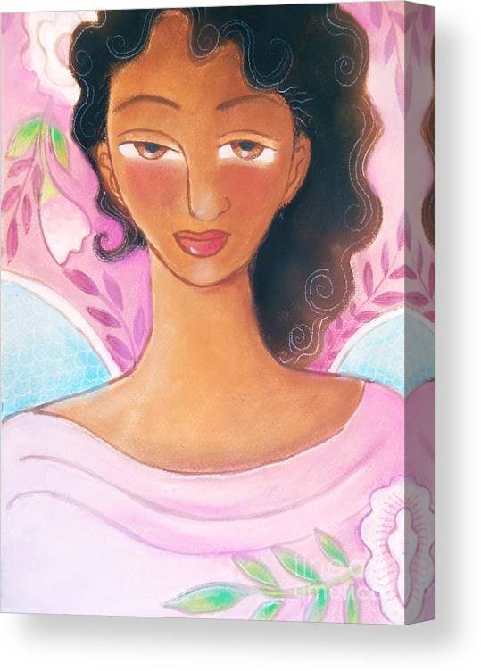 Angel Canvas Print featuring the mixed media Pink Angel by Elaine Jackson