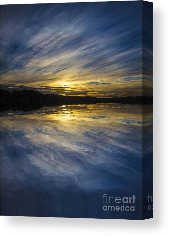 Pittwater Canvas Print featuring the photograph Pittwater sunset abstract by Sheila Smart Fine Art Photography
