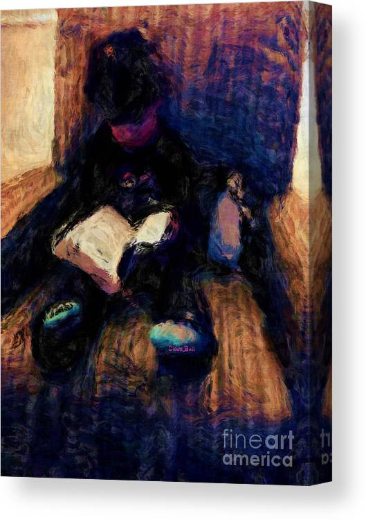 Child Canvas Print featuring the painting Quiet Time by Claire Bull