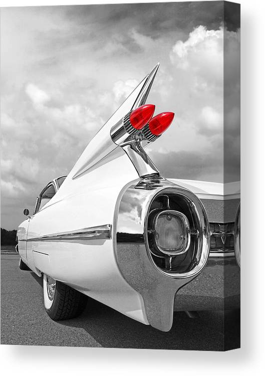 Canvas Tail Fin of 1961 Cadillac Art print POSTER