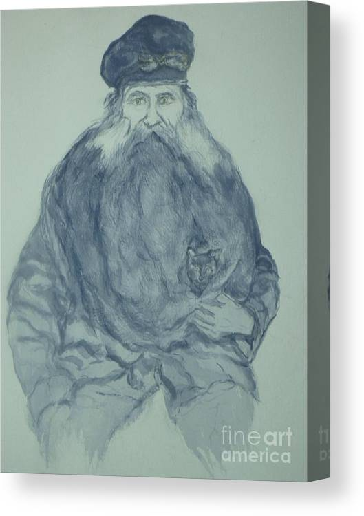 Sea Captain Canvas Print featuring the painting Sea Captain by Nancy Caccioppo