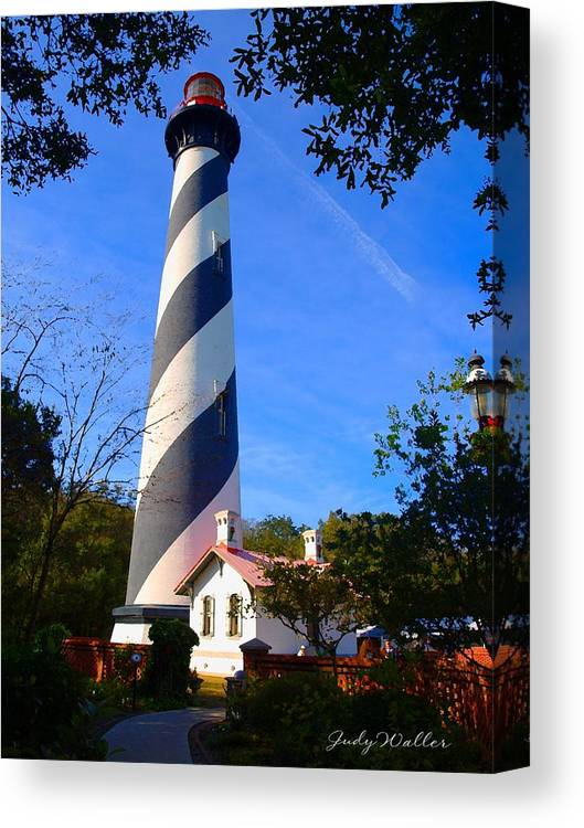 St. Augustine Canvas Print featuring the photograph St. Augustine Lighthouse by Judy Waller