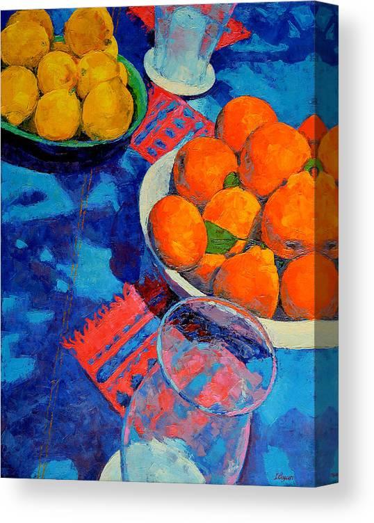 Still Life Canvas Print featuring the painting Still Life 2 by Iliyan Bozhanov