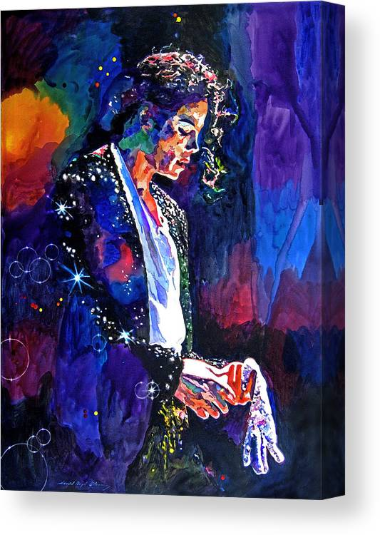 Michael Jackson Canvas Print featuring the painting The Final Performance - Michael Jackson by David Lloyd Glover