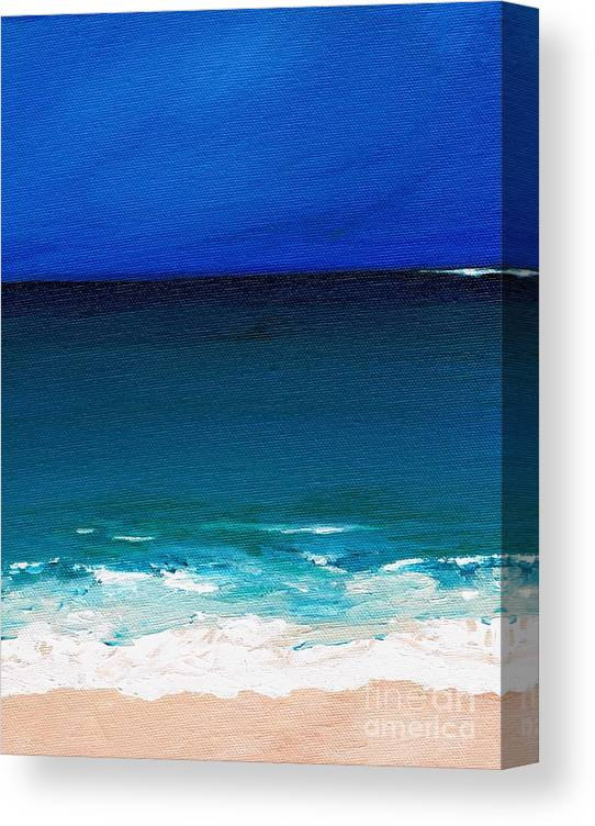 Seashore Canvas Print featuring the painting The Tide Coming In by Frances Marino