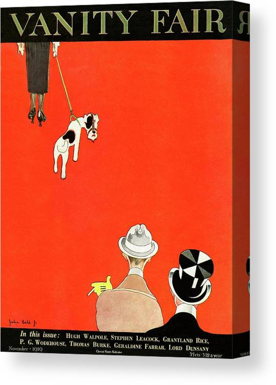 Illustration Canvas Print featuring the photograph Vanity Fair Cover Of Dog Walking by John Held Jr