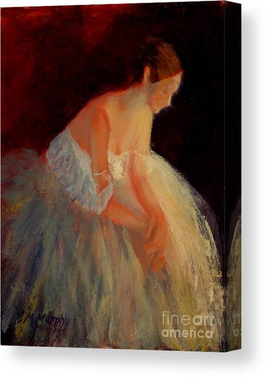 Ballerina Canvas Print featuring the painting Ballerina Study by Colleen Murphy