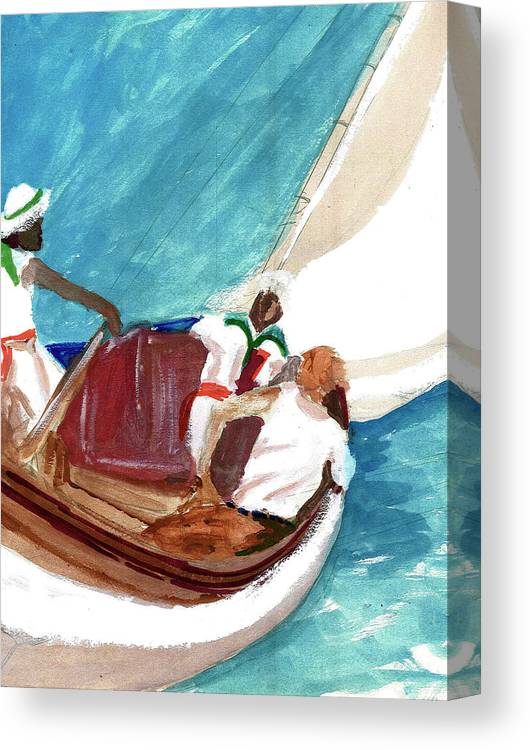 Canvas Print featuring the painting Setting Sail by Harry Richards