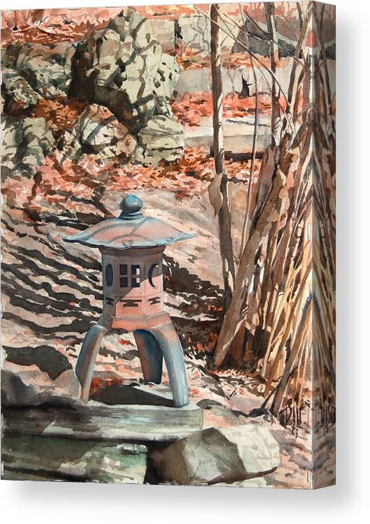 Canvas Print featuring the painting Spring Shadows by Peter Sit