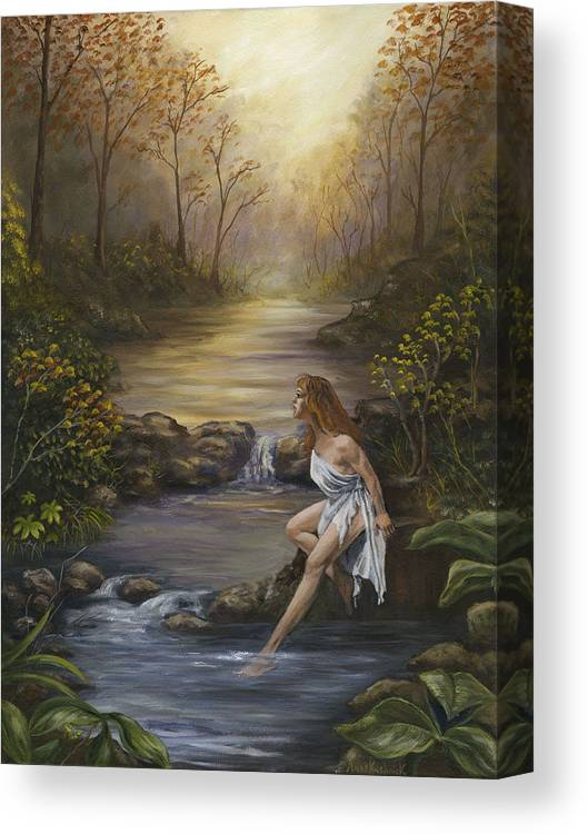 Landscape Canvas Print featuring the painting The Muse by Anne Kushnick
