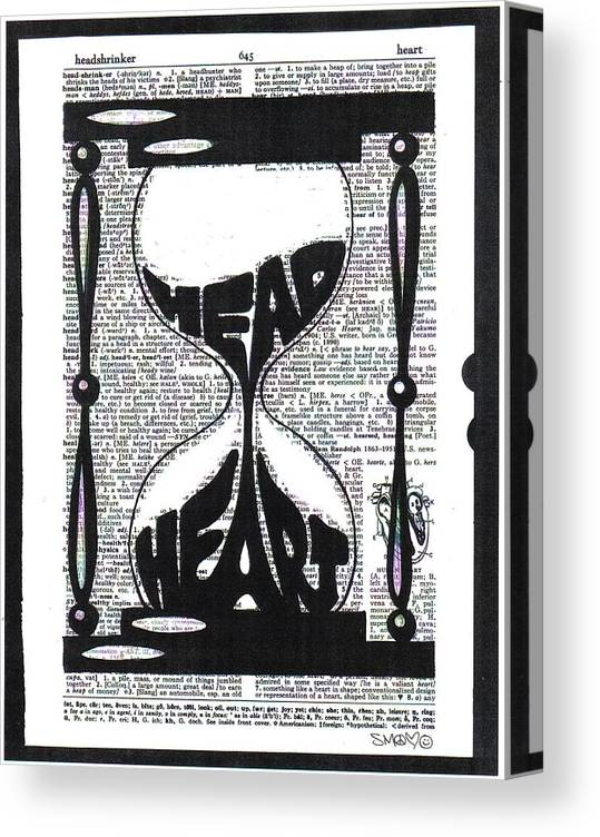 These Things Take Time Head Heart Hourglass Canvas Print Canvas Art By Inkpaint Wordplay