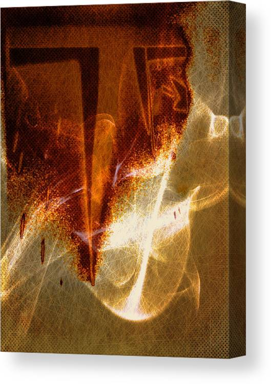Abstract Canvas Print featuring the digital art Variation in tones by Joseph Ferguson