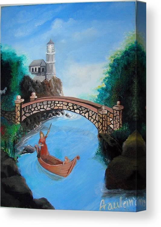 Figure Canvas Print featuring the painting The Escape by Glory Fraulein Wolfe