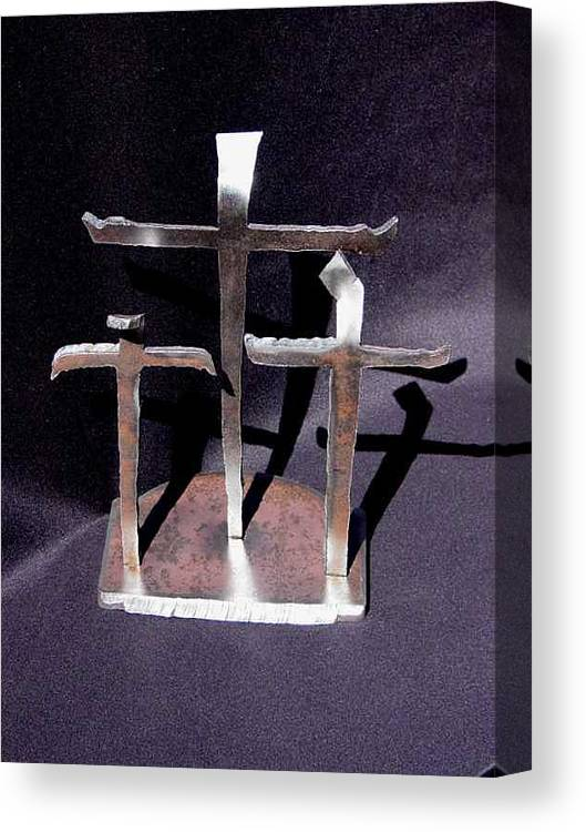 God Canvas Print featuring the sculpture 3 Gifts Sold  by Steve Mudge