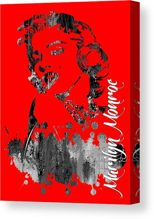 Marilyn Monroe Canvas Print featuring the mixed media Marilyn Monroe Collection by Marvin Blaine
