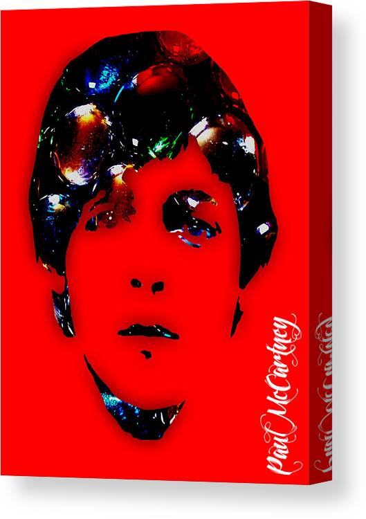 Paul Mccartney Art Canvas Print featuring the mixed media Paul McCartney Collection by Marvin Blaine