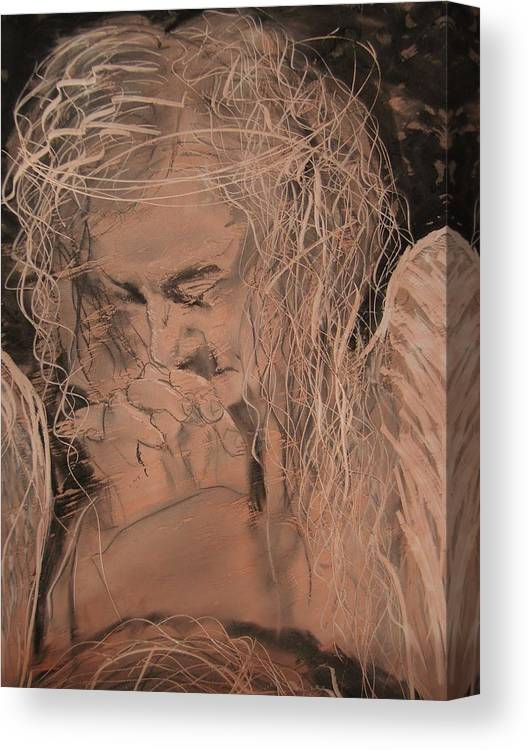Canvas Print featuring the painting Angel 2 by J Bauer