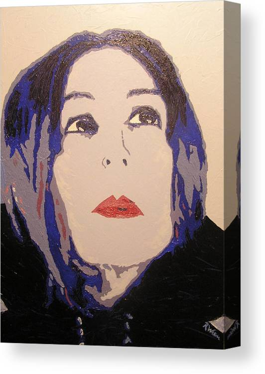 Portrait Canvas Print featuring the painting Beauty Beyond the Blue by Ricklene Wren