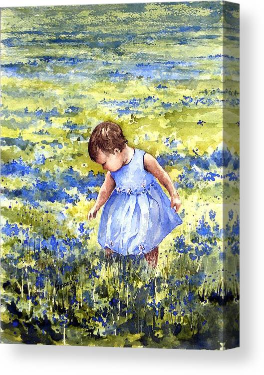 Blue Canvas Print featuring the painting Blue by Sam Sidders