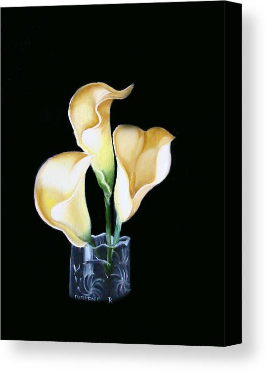 Calla Lilies Canvas Print featuring the painting Calla Lily by Darlene Green