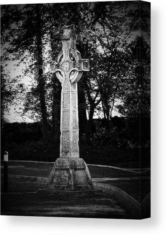 Irish Canvas Print featuring the photograph Celtic Cross in Killarney Ireland by Teresa Mucha