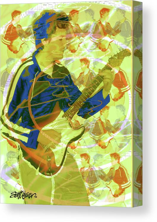 Dr. Guitar Canvas Print featuring the photograph Dr. Guitar by Seth Weaver