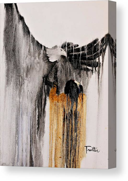 Natives Canvas Print featuring the painting Eagle Spirit by Patrick Trotter