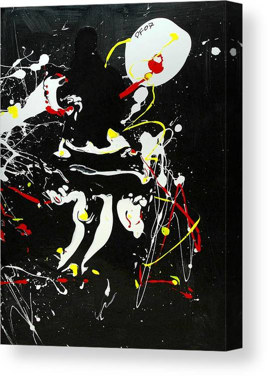 Abstract Canvas Print featuring the painting Encounter by Paul Freidin