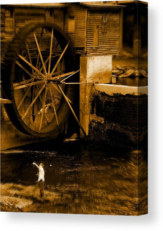 Fish Canvas Print featuring the photograph First Catch by Jessica Burgett