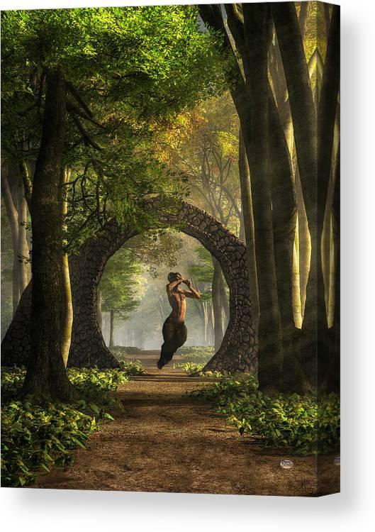 Gate To Pan S Garden Canvas Print Canvas Art By Daniel Eskridge