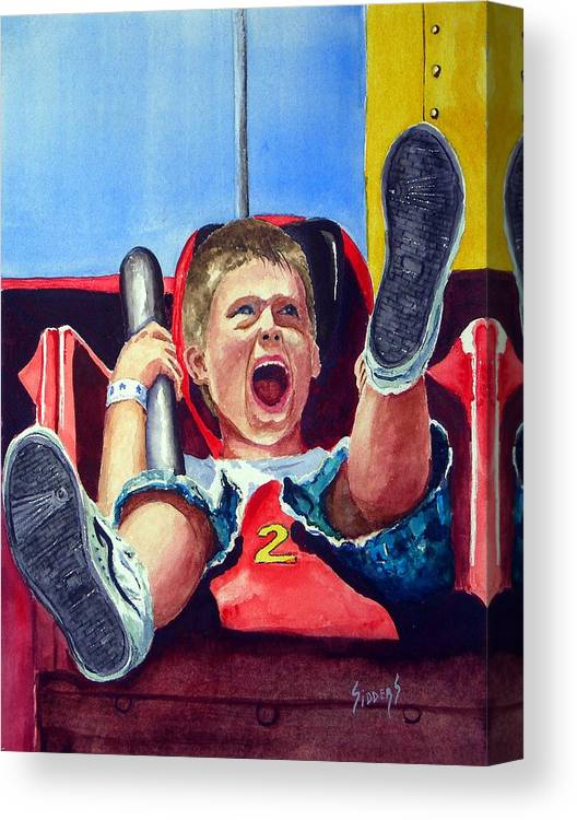 Boy Canvas Print featuring the painting Goin' Down by Sam Sidders