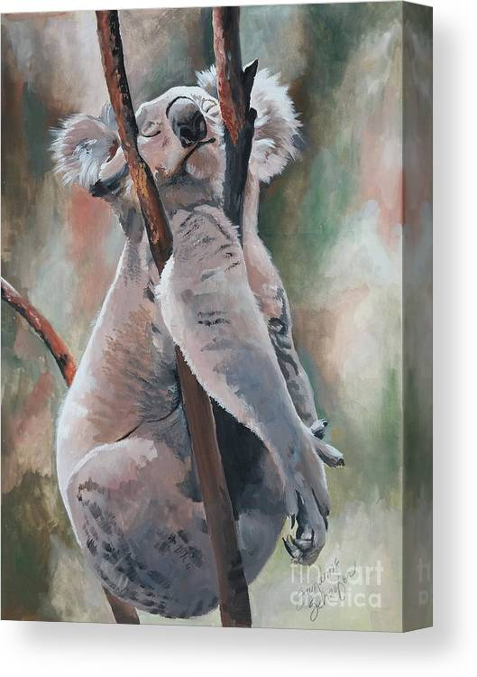 Koala Bear Canvas Print featuring the painting Its About Trust - Koala Bear by Suzanne Schaefer
