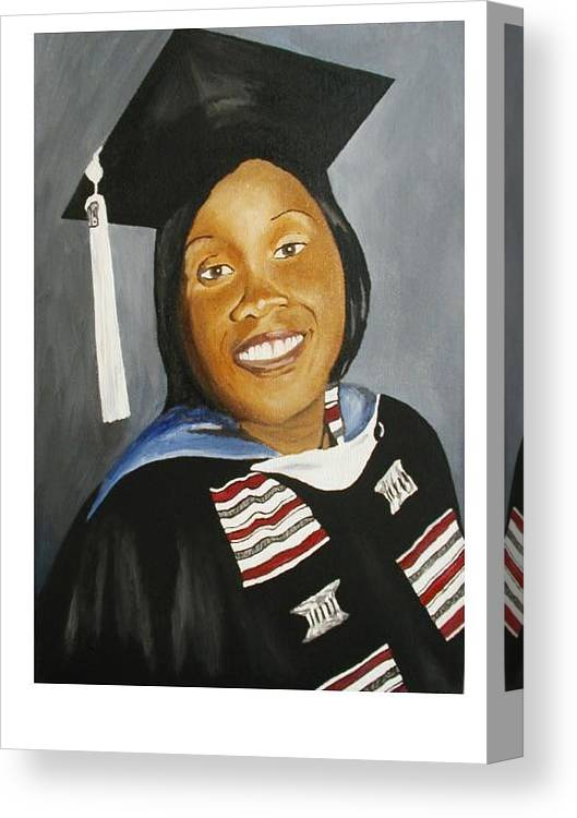 Portrait Canvas Print featuring the painting Jessie by Angelo Thomas