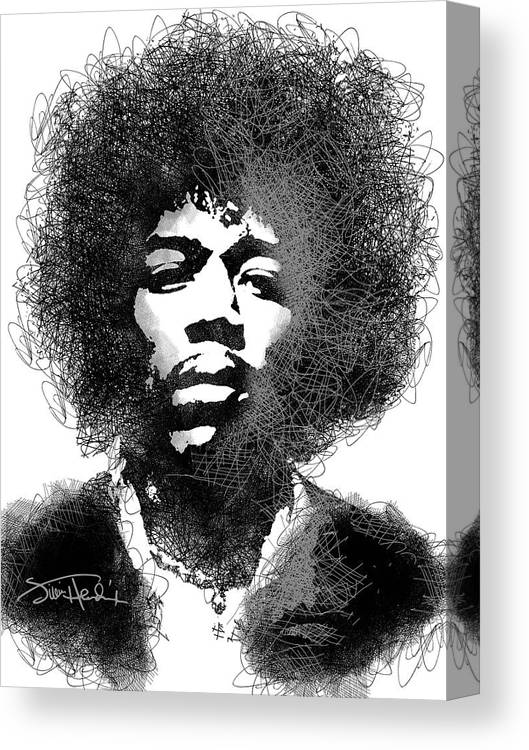 JIMI HENDRIX CANVAS PICTURE PRINT SKETCH WALL ART FREE FAST DELIVERY