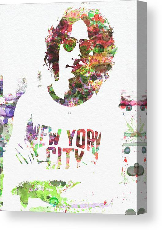 Canvas Print featuring the painting John Lennon 2 by Naxart Studio