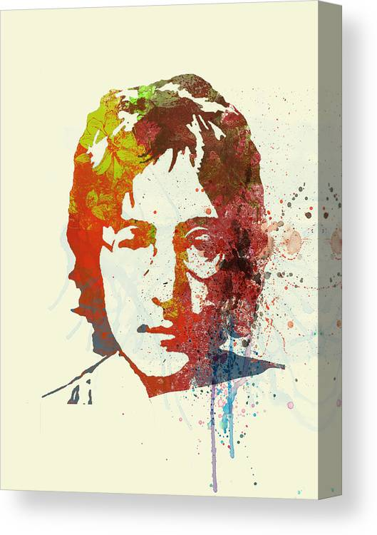 Canvas Print featuring the painting John Lennon by Naxart Studio