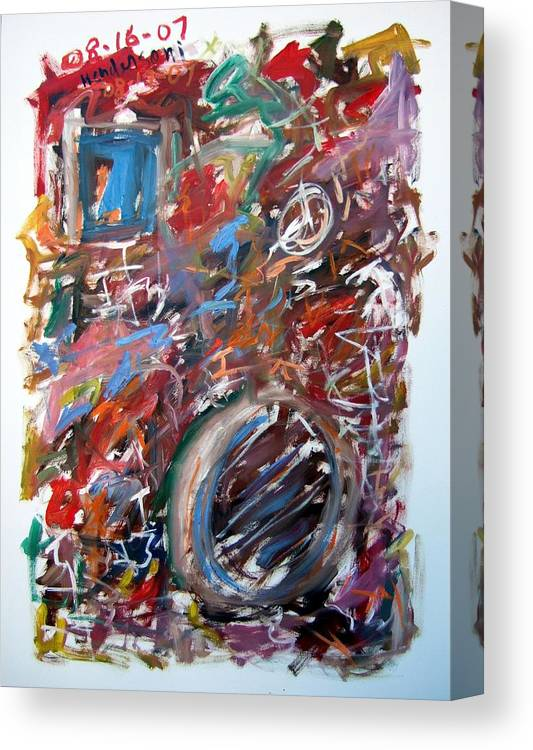 Abstract Canvas Print featuring the painting Large Abstract No. 6 by Michael Henderson