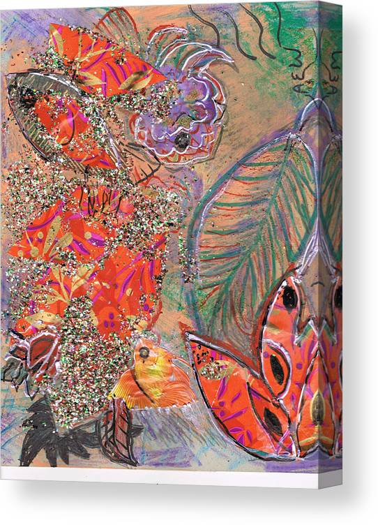 Collage Canvas Print featuring the painting Leaving All Behind by Anne-Elizabeth Whiteway