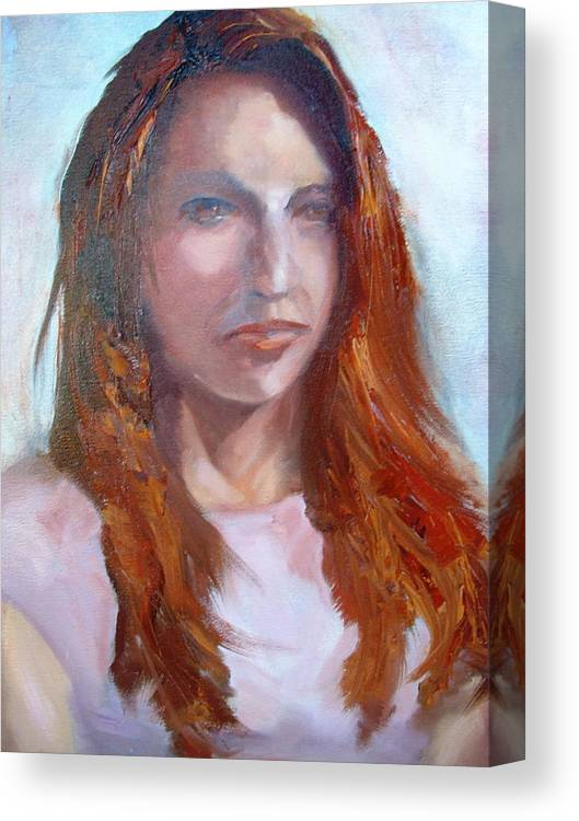 Portrait Canvas Print featuring the painting Lisa II by Bryan Alexander