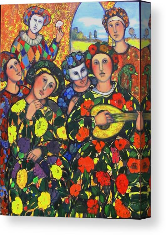 Canvas Print featuring the painting Mardis Gras by Marilene Sawaf