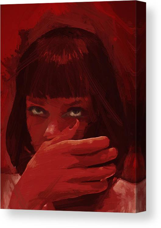 Mia Wallace Pulp Fiction Canvas Print Canvas Art By Afterdarkness