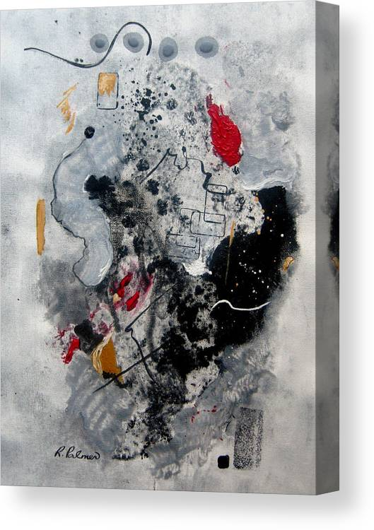 Abstract Canvas Print featuring the painting Moods II by Ruth Palmer