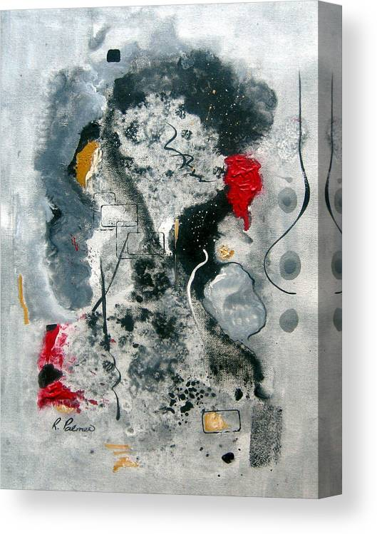 Abstract Canvas Print featuring the painting Moods by Ruth Palmer