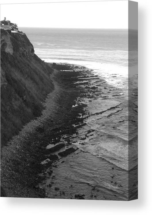 Beaches Canvas Print featuring the photograph Oceans Edge by Shari Chavira