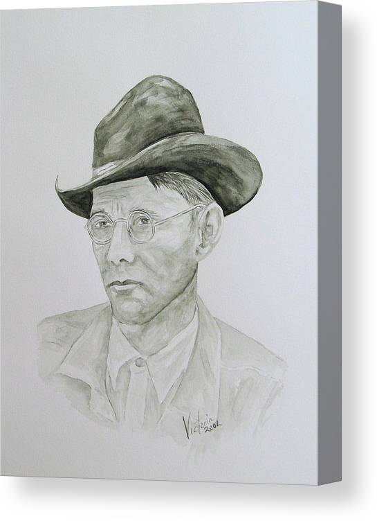 Old Man Canvas Print featuring the painting Old Man by Torrie Smiley