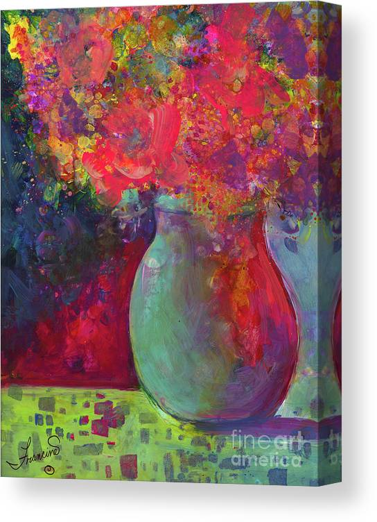 Alcohol Inks Canvas Print featuring the mixed media Party Mix by Francine Dufour Jones