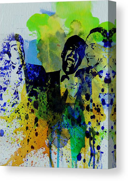 Frank Sinatra Canvas Print featuring the painting Rat Pack by Naxart Studio