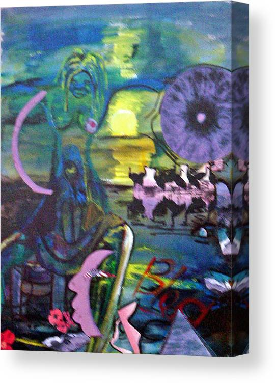 Water Canvas Print featuring the painting Remembering 9-11 by Peggy Blood