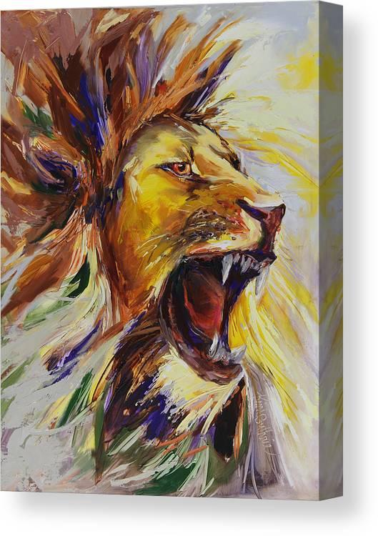 SHIPS FREE! Lion Roaring Art Print Note Card